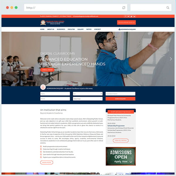 DPS Website Design Siliguri