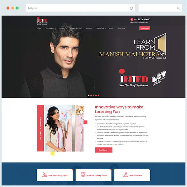 INIFD Website Designing
