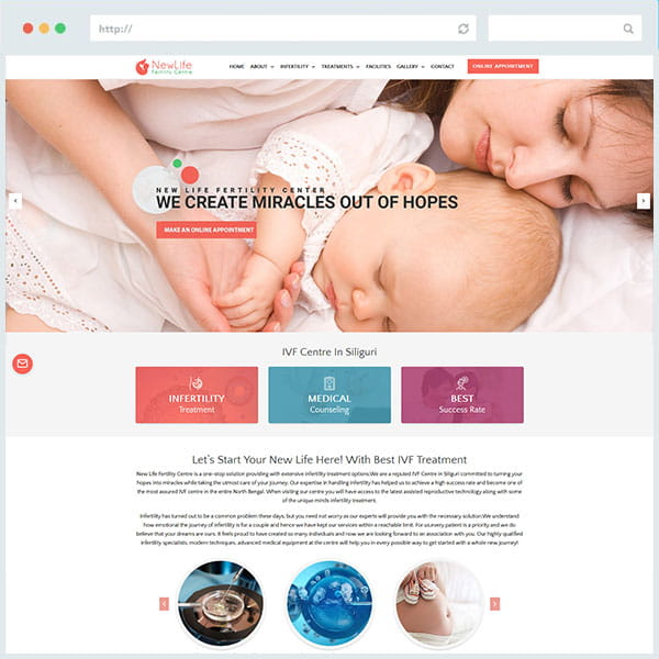 Web designing for Newlife Website